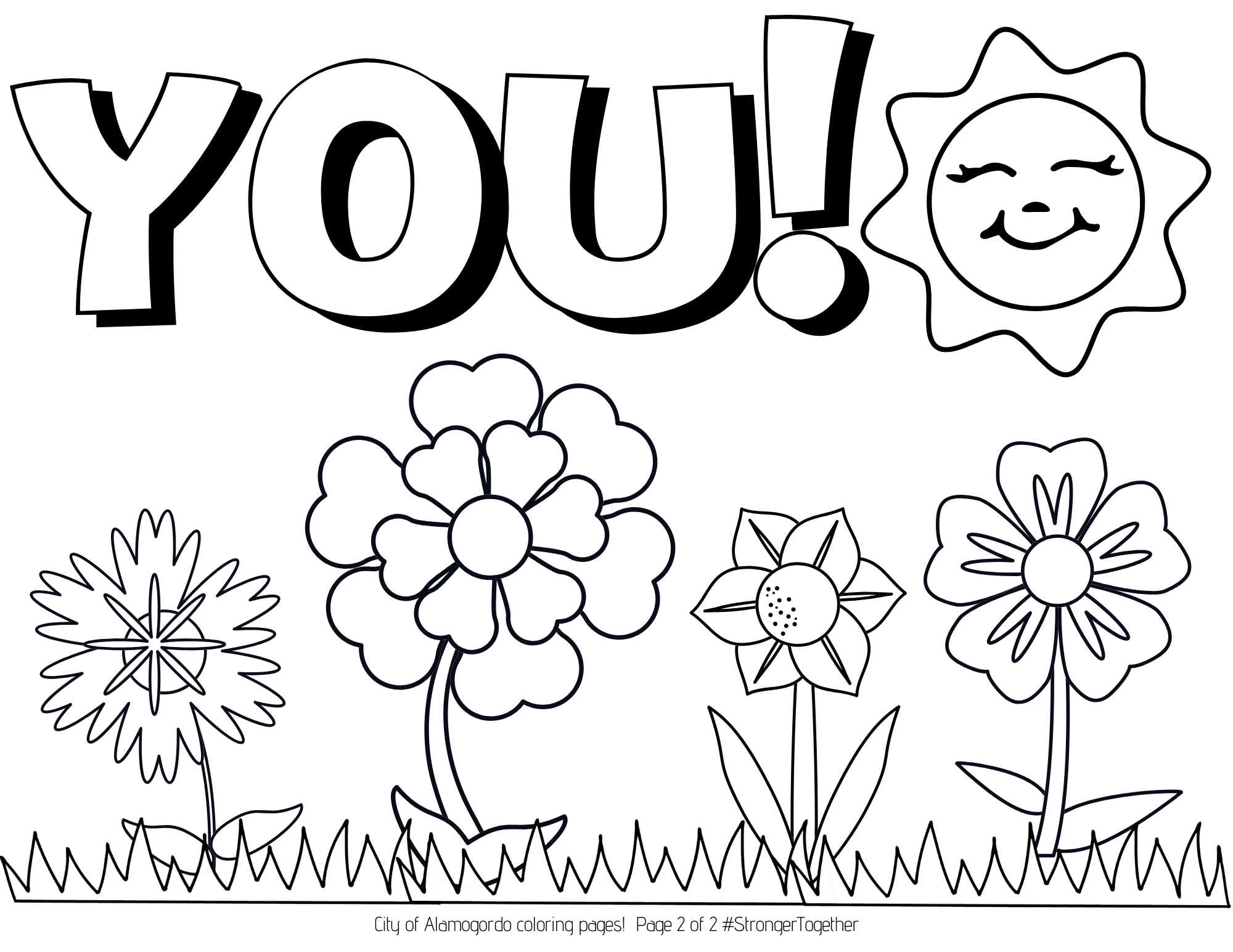 Spring Coloring Page 2 of 2