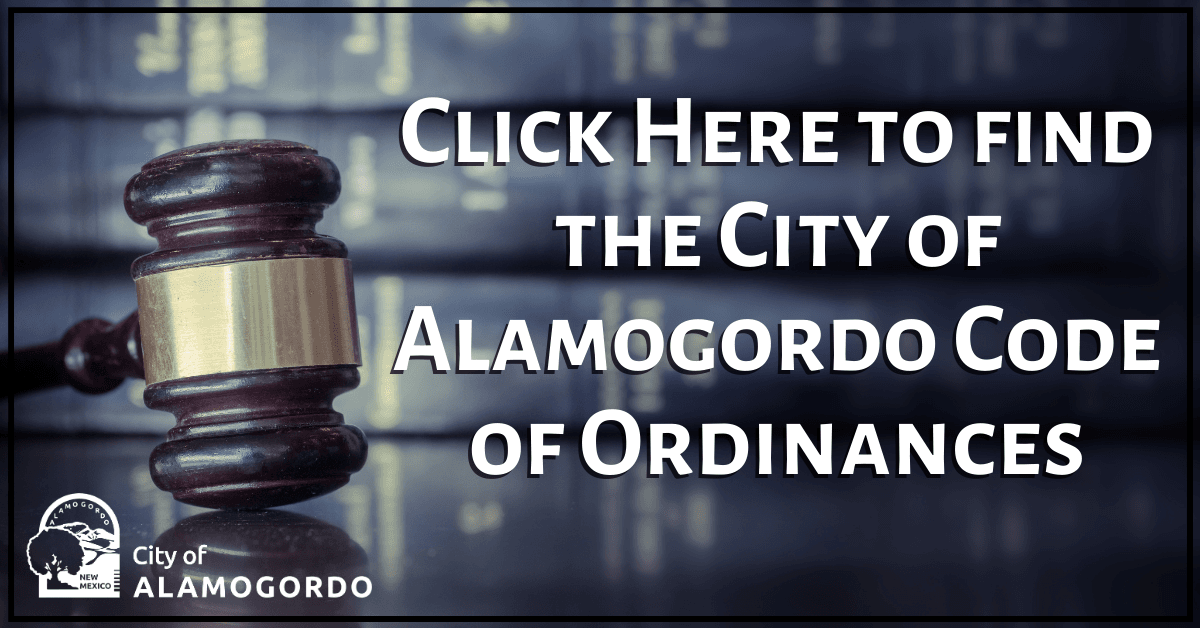 Alamogordo Code of Ordinances link button