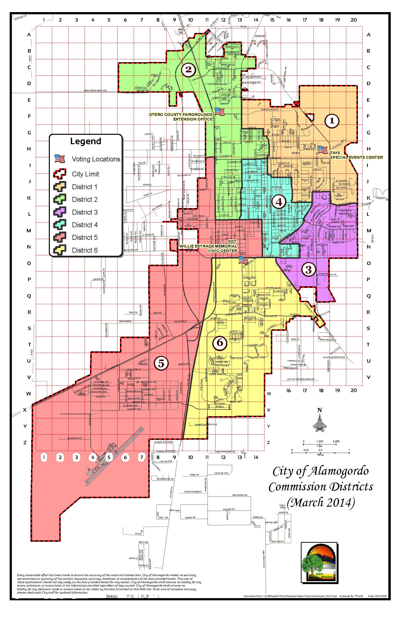 2014 City Commission  Map